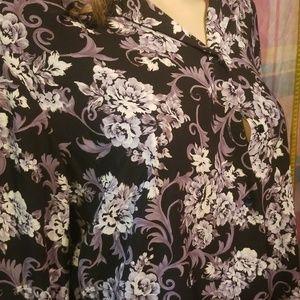 Covington flower blouse
